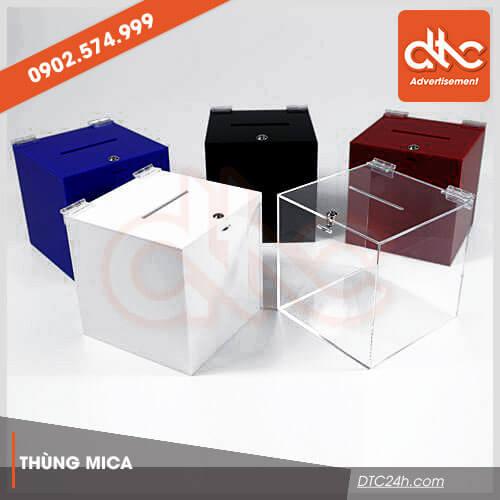cung cấp thùng phiếu mica trong suốt giá rẻ tphcm và đà nẵng