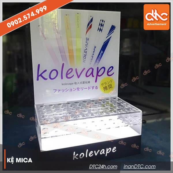 Kệ mica trưng bày mỹ phẩm Kolevape
