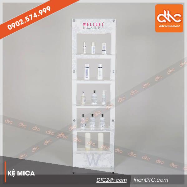 Kệ mica trưng bày mỹ phẩm Wellget 1