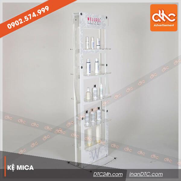 Kệ mica trưng bày mỹ phẩm Wellget 2