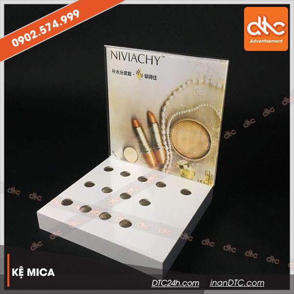 Kệ mica trưng bày quảng cáo mỹ phẩm Niviachy