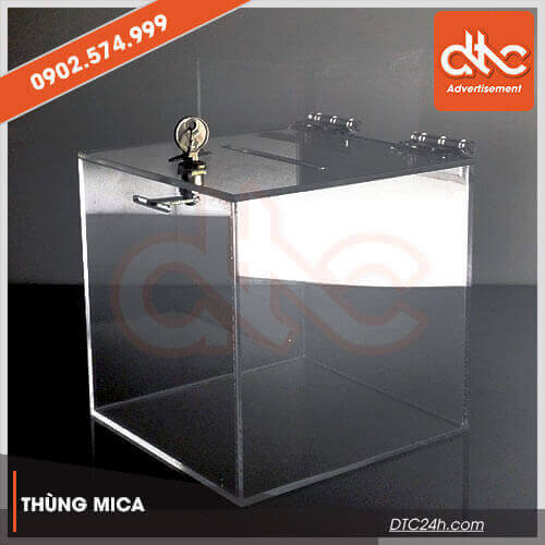 thùng mica trong suốt cao cấp