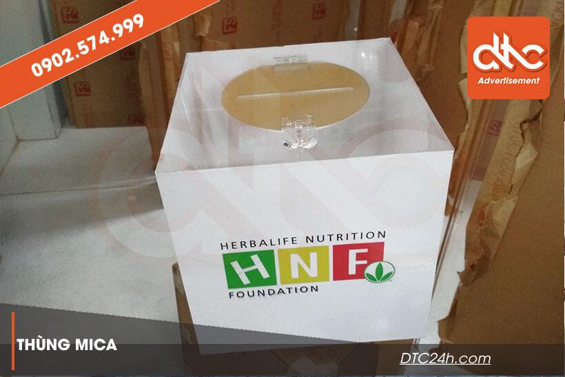 thùng phiếu mica herbalife