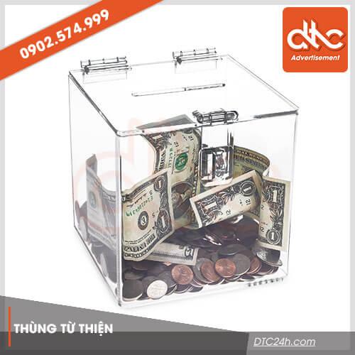 thùng từ thiện mica giá rẻ