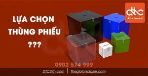 Chọn thùng phiếu mica tại TPHCM