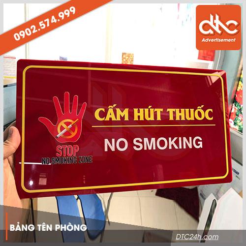 bảng cấm hút thuốc mica in uv