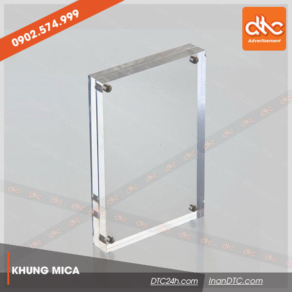 khung hình mica để bàn