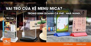 Vai trò của kệ menu mica trong kinh doanh cà phê nhà hàng