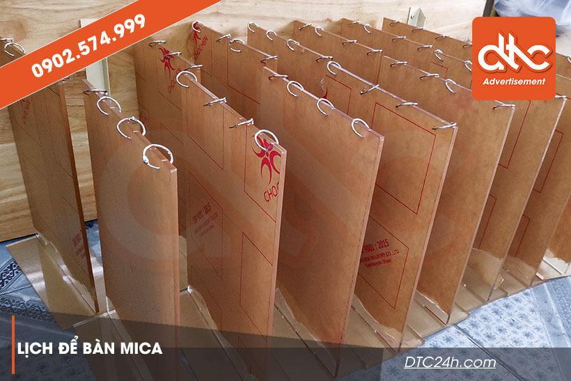 Xưởng sản xuất đế lịch mica để bàn HCM