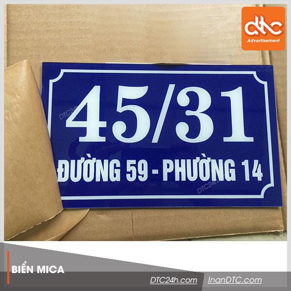 Mẫu biển số nhà đẹp TPHCM và Đà Nẵng 1